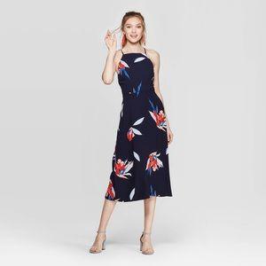 NWT Navy Floral Midi Dress